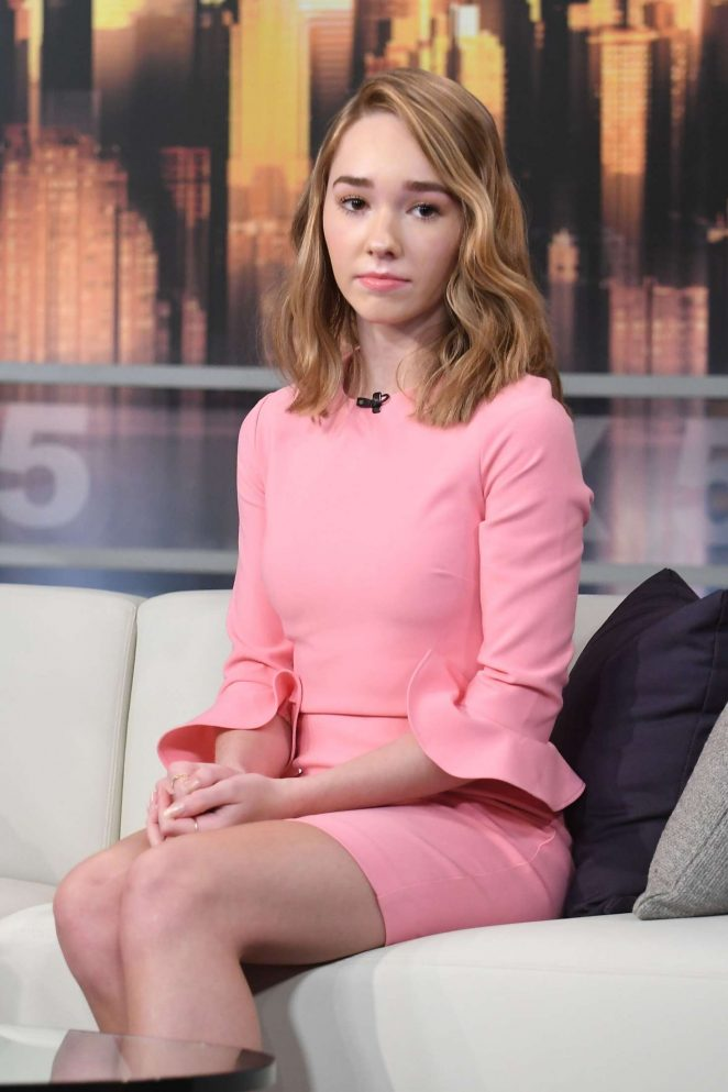 Holly Taylor - 'Good Day New York' TV Show in NYC