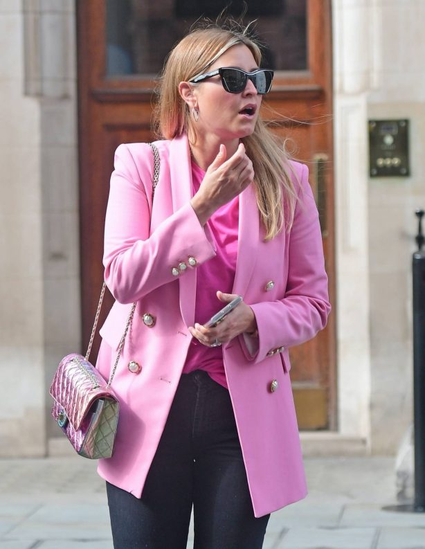 Holly Valance - In a pink blazer out in London