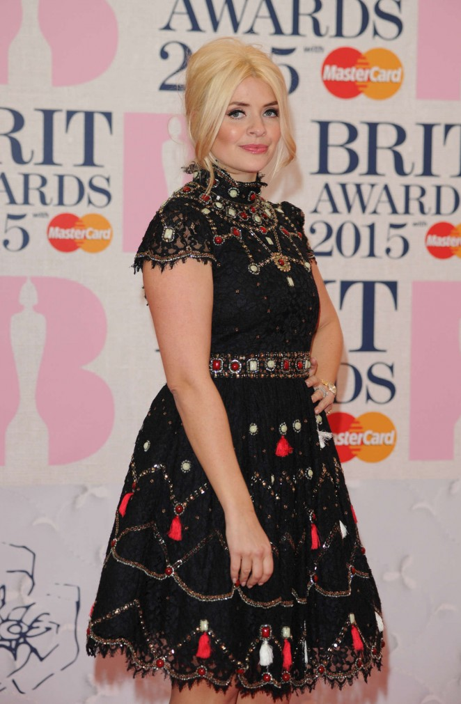 Holly Willoughby - 2015 BRIT Awards in London