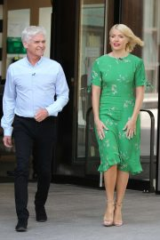 Holly Willoughby - Filming This Morning TV Show in London