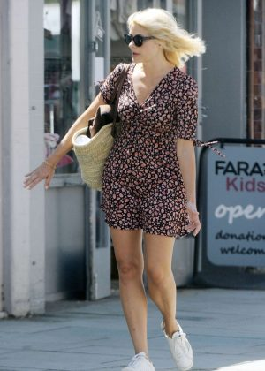 Holly Willoughby in Mini Dress - Out in London