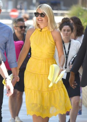 Holly Willoughby in Yellow Dress at ITV Studios in London