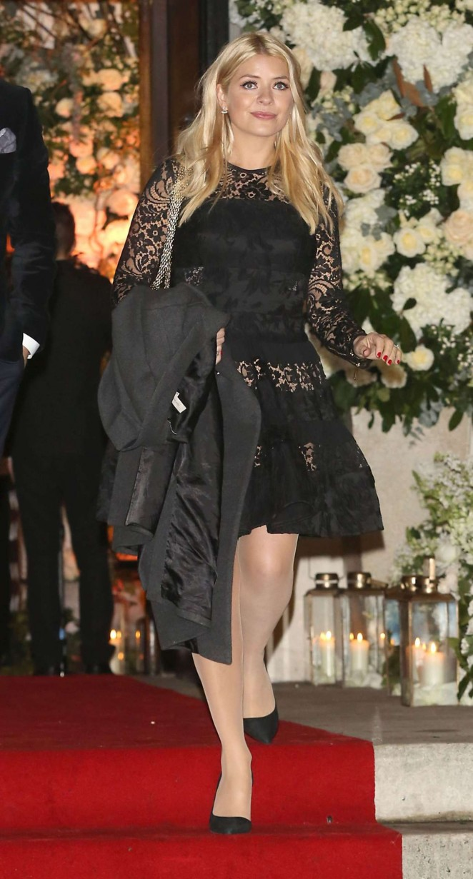 Holly Willoughby - Leaves Christine Bleakley Wedding in London