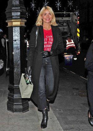 Holly Willoughby - Leaving Scott's Restaurant in London