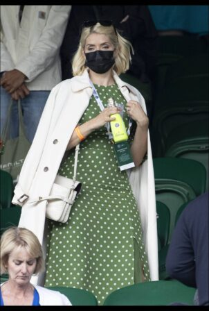 Holly Willoughby - On day seven of Wimbledon Tennis Championship in London