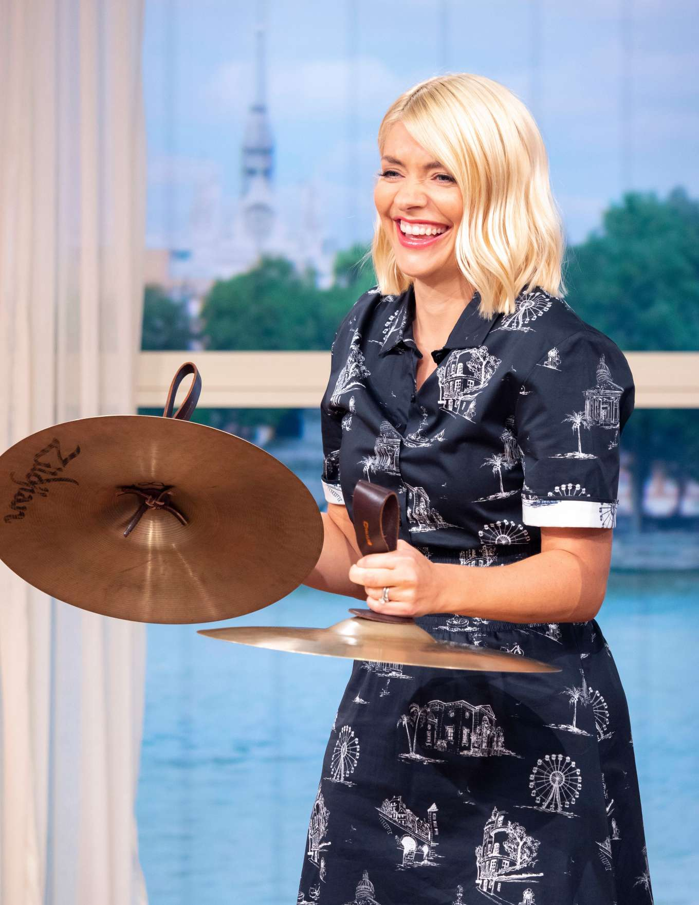Holly Willoughby - On 'This Morning' TV Show in London