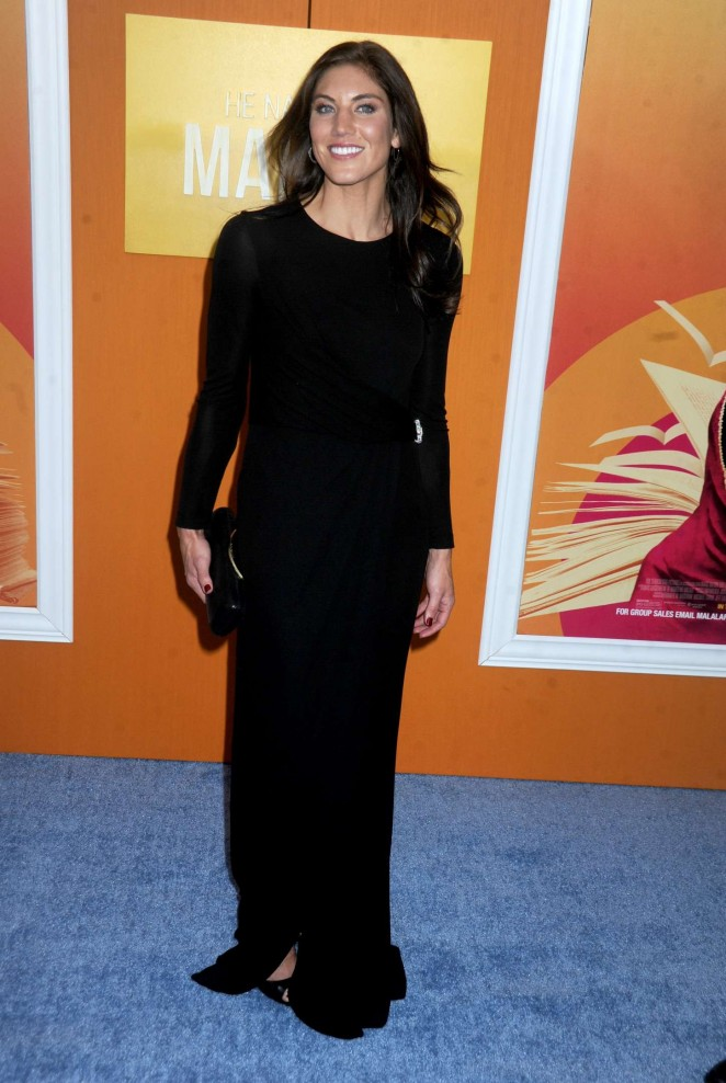 Hope Solo - 'He Named Me Malala' Premiere in NY