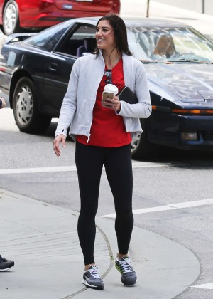 Hope Solo in Leggings out in Vancouver