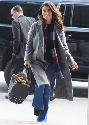 Idina Menzel at JFK Airport in NYC