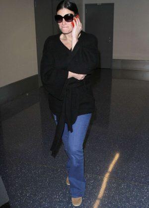 Idina Menzel at LAX Airport in LA