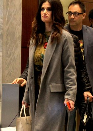 Idina Menzel at 'Sirius' Radio Station in NYC