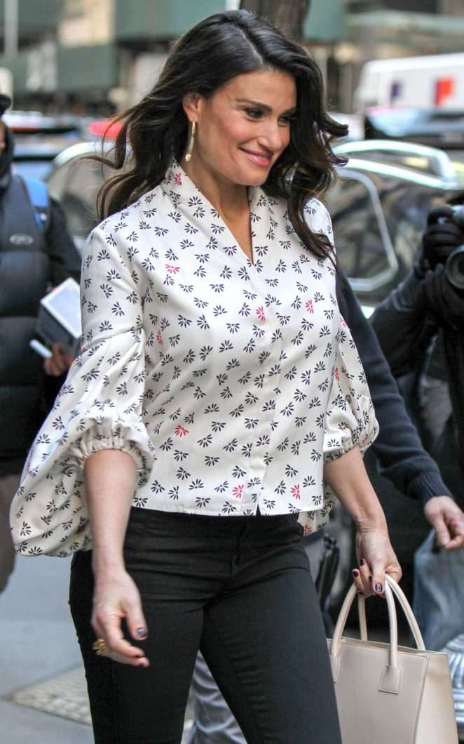 Idina Menzel at 'The Today Show' in New York