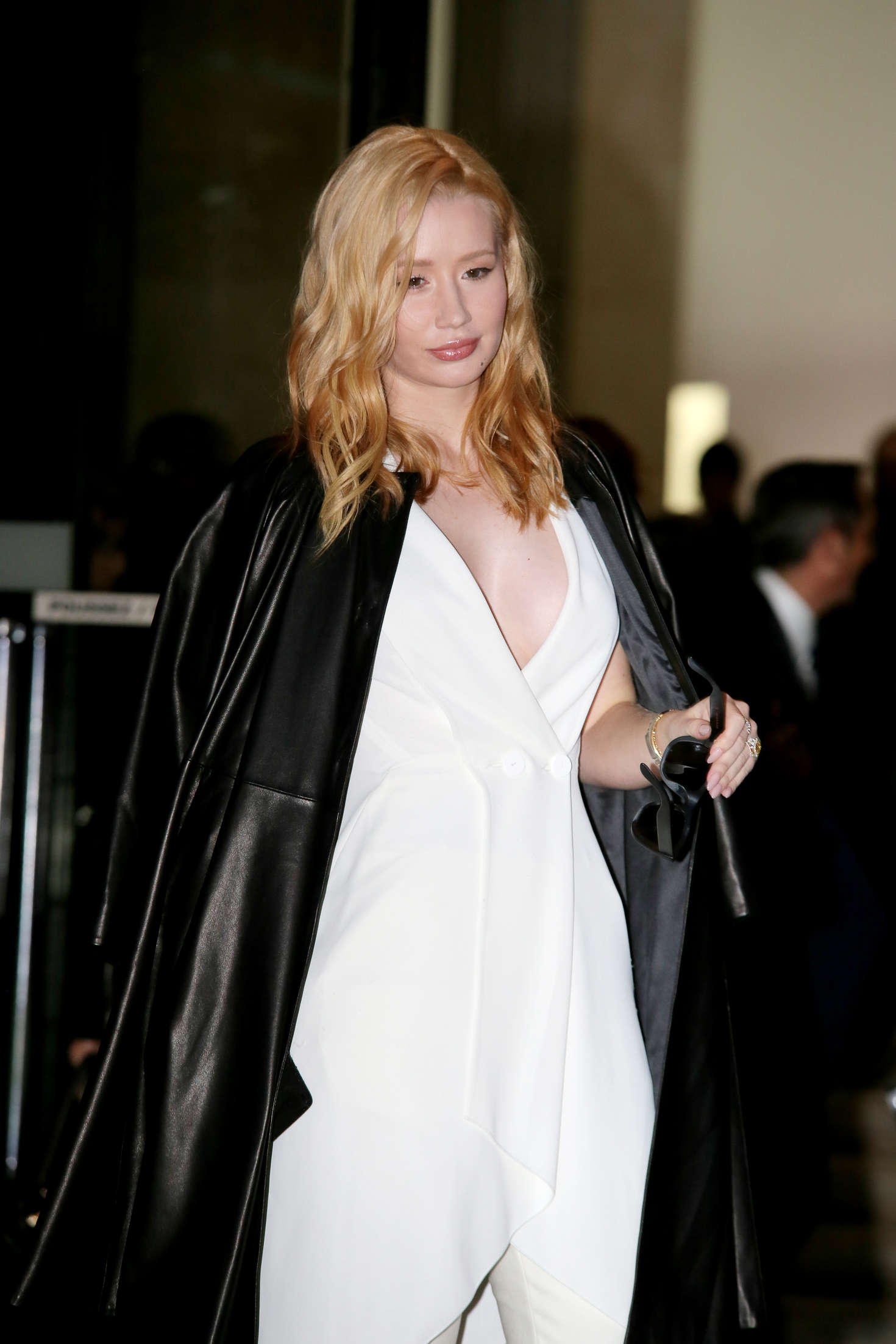 Iggy Azalea Arrivals at Giorgio Armani Fashion Show Spring Summer 2016 in Paris