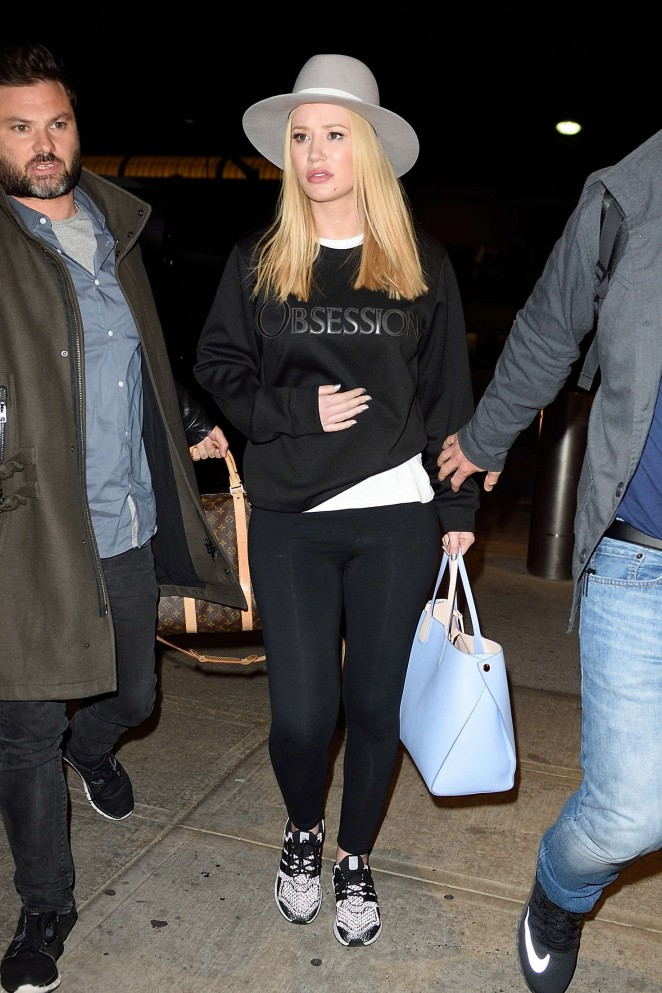 Iggy Azalea - Arrives at JFK Airport in New York