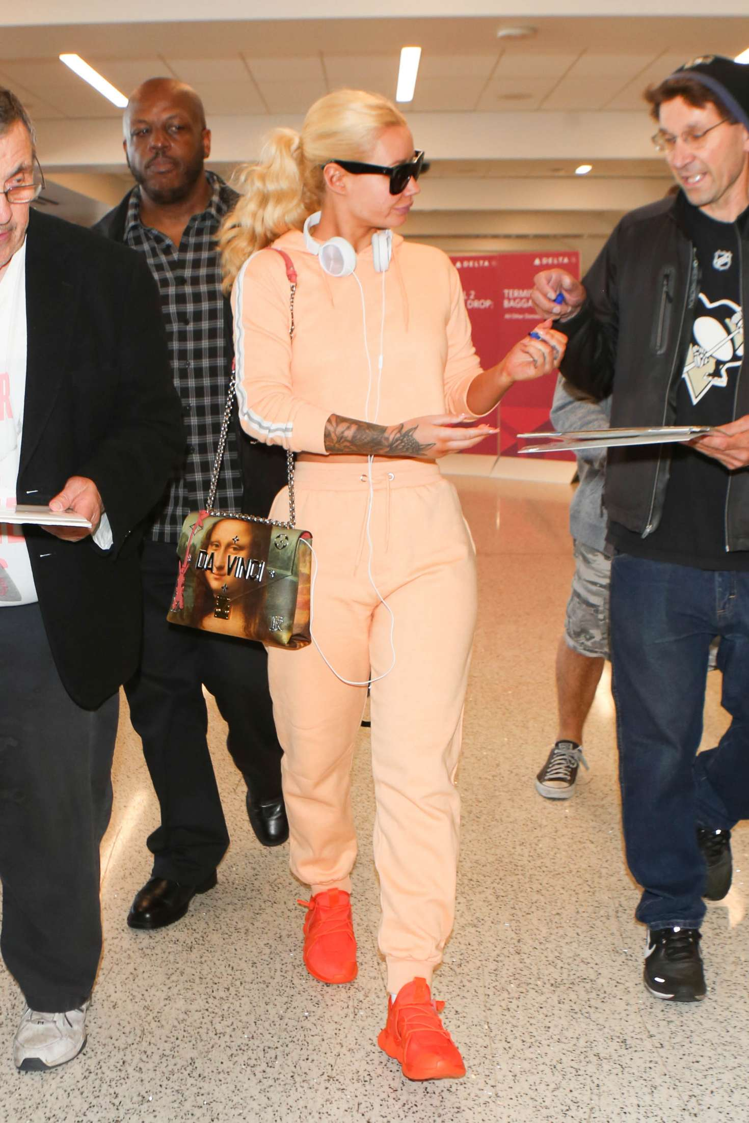 Iggy Azalea at Los Angeles International Airport