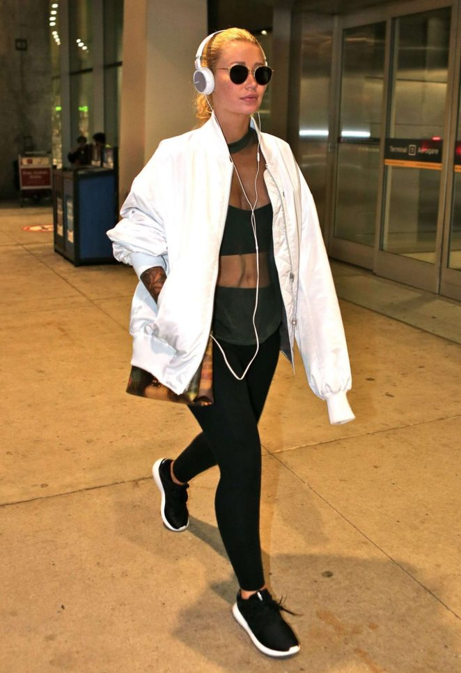 Iggy Azalea at Toronto Pearson International Airport