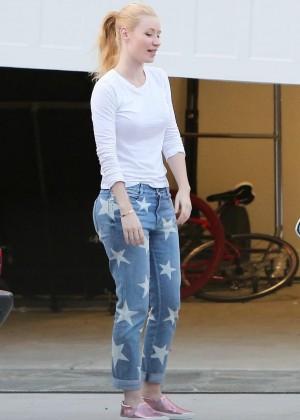 Iggy Azalea in Jeans Out in Los Angeles