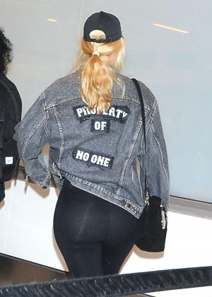 Iggy Azalea in Spandex at LAX airport in Los Angeles