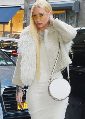 Iggy Azalea in Tight Dress out in New York City