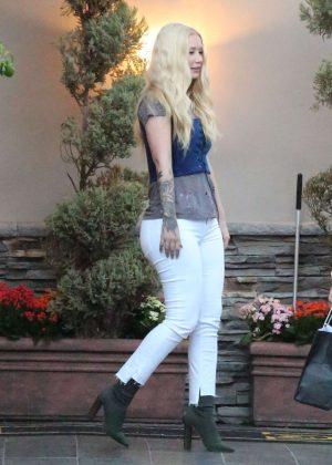 Iggy Azalea in Tight Jeans at Maestro restaurant in Calabasas