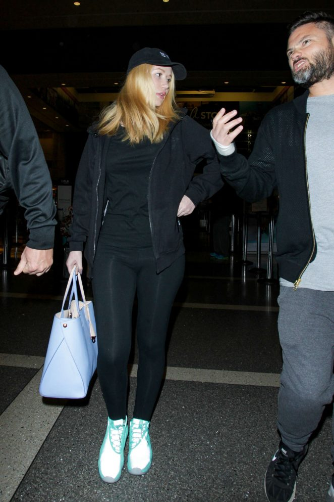 Iggy Azalea in Tights at LAX Airport in Los Angeles