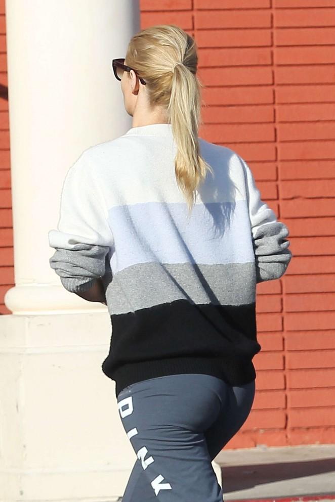 Iggy Azalea Booty in Tights Out in LA