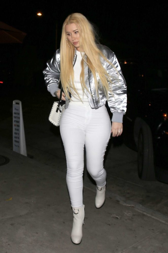 Iggy Azalea in White Pants out in West Hollywood