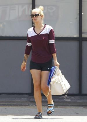 Iggy Azalea in Shorts Leaving a CVS in LA