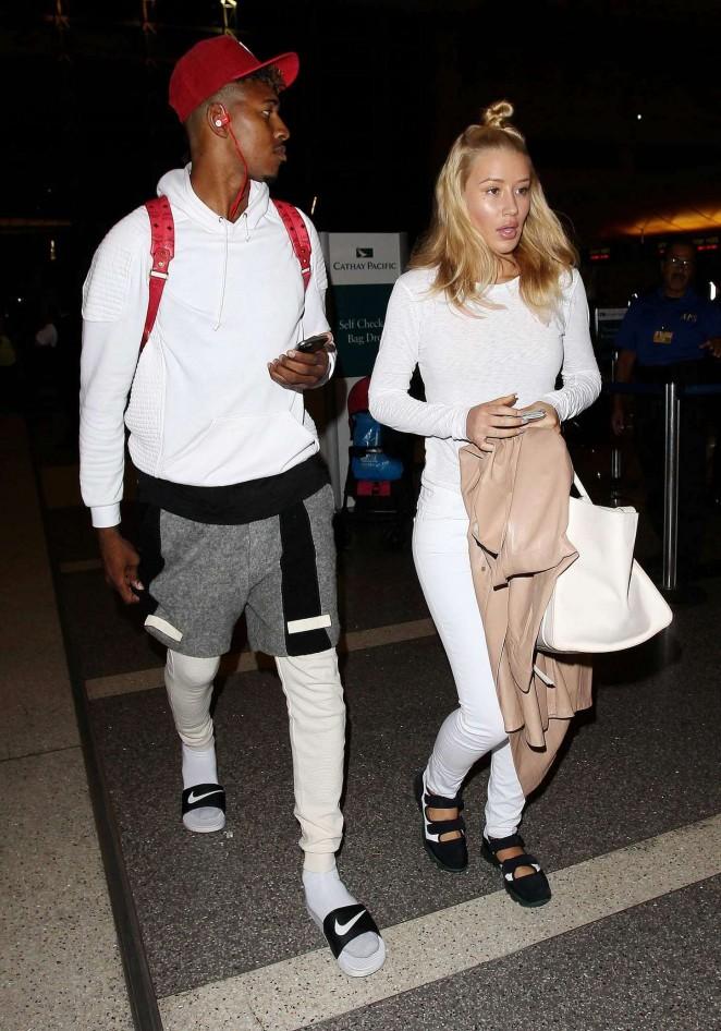 Iggy Azalea With Boyfriend at LAX Airport in LA
