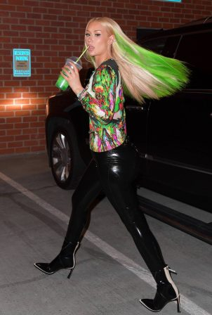 Iggy Azalea - With neon green hair night out in New York