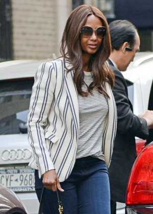 Iman in Jeans out in New York