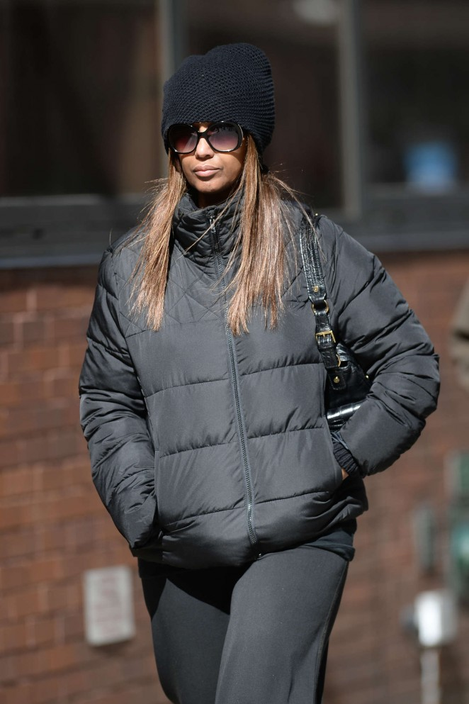 Iman out in New York