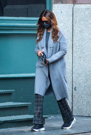 Iman - Wears Skechers Sneakers for a walk in New York