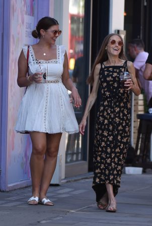 Imogen Thomas and Nikki Graham - Wearing summer dresses at Callooh Calley bar in Londons's Chelsea