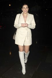 Imogen Thomas - Arrives at Opening of Hankies Haymarket in London