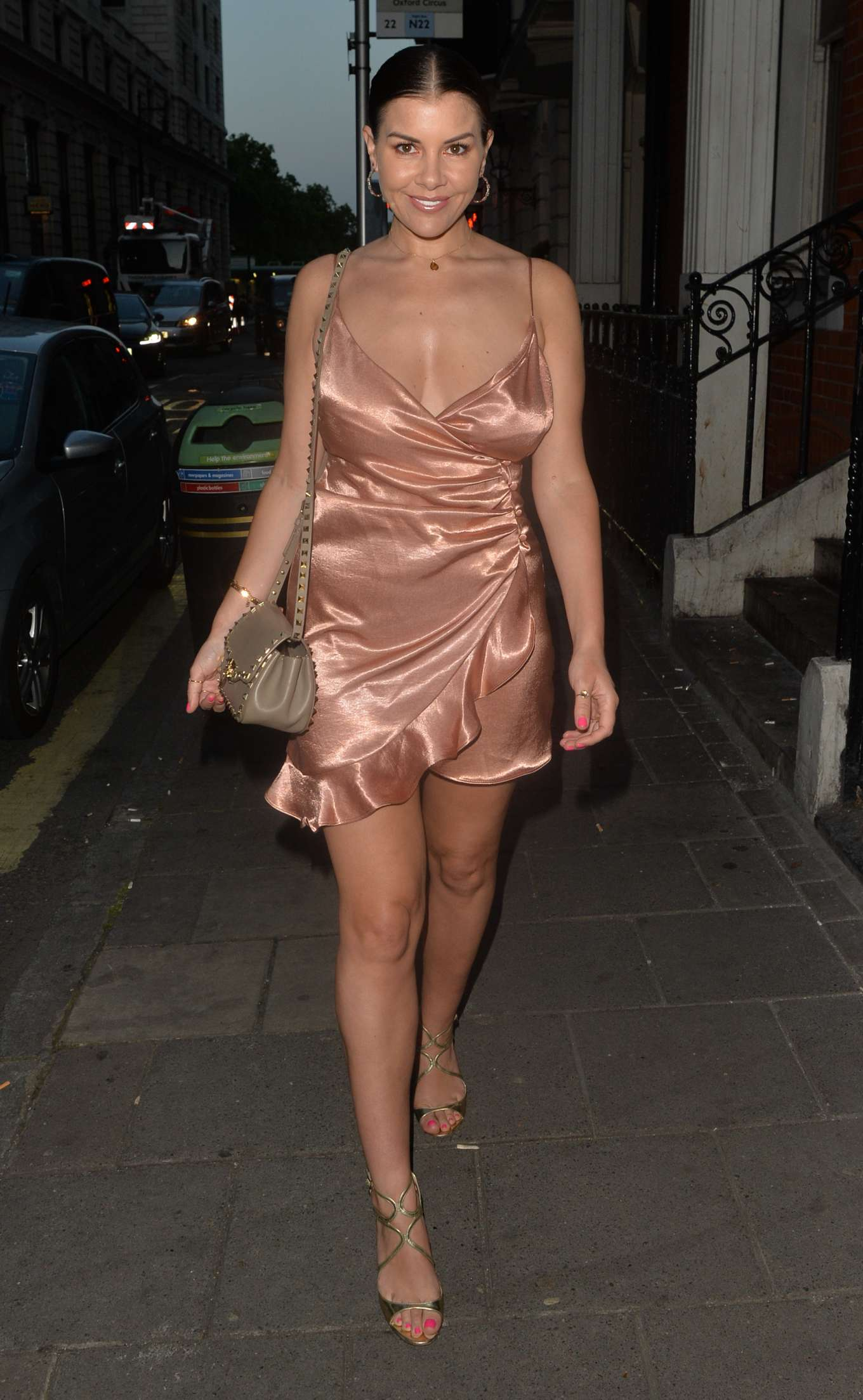 Imogen Thomas at Bocconcino Restaurant in Mayfair