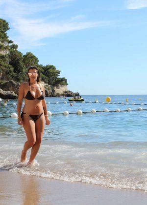 Imogen Thomas in Bikini on holiday in Monaco