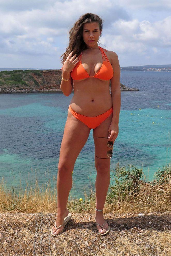Imogen Thomas in Bikini on the beach in Mallorca