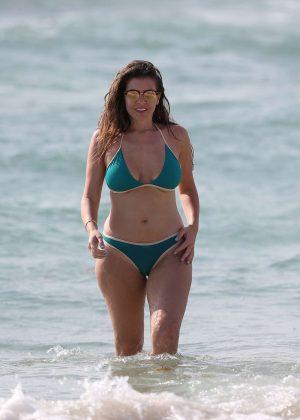 Imogen Thomas in Bikini on the beach in Spain