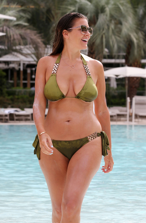 Imogen Thomas In Green Bikini 08 Gotceleb