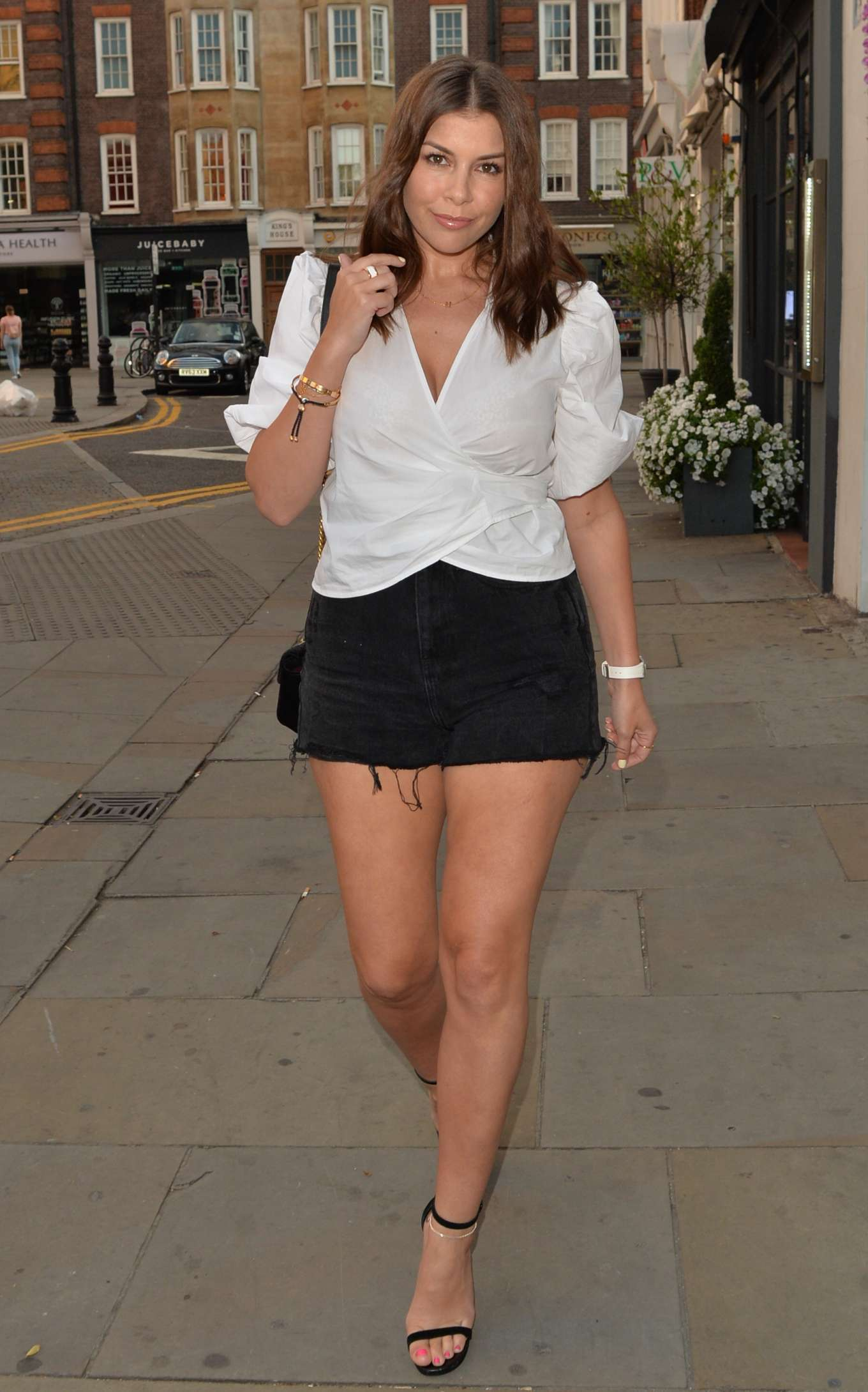 Imogen Thomas in Shorts - Out in Chelsea
