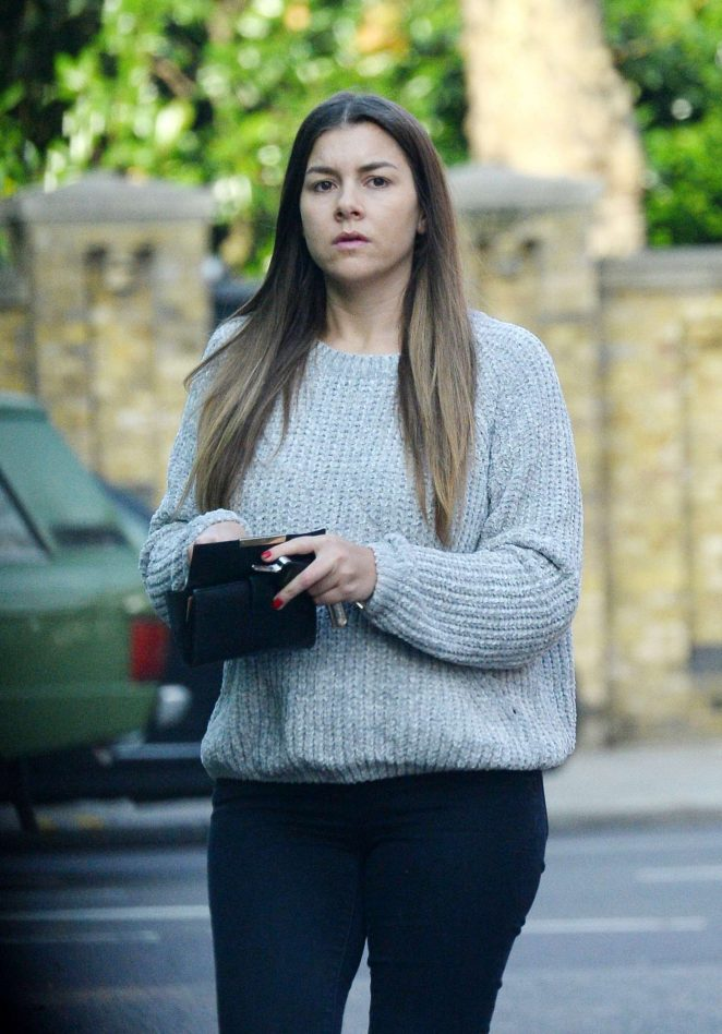 Imogen Thomas in Tight Jeans out in Chelsea