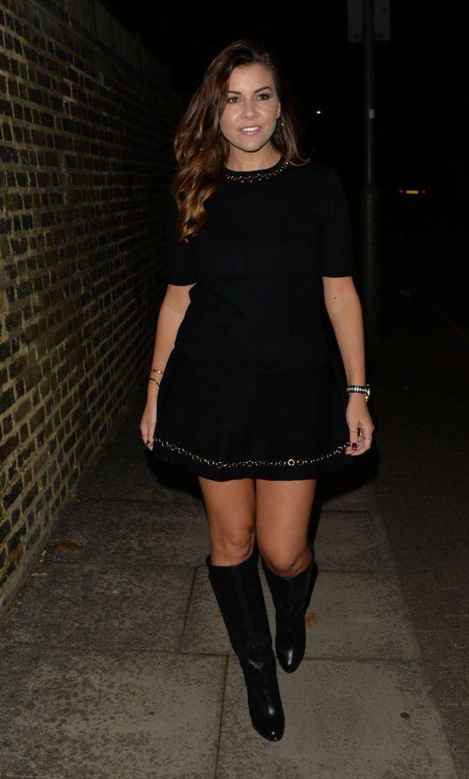 Imogen Thomas – Leaving Madison's Bar in London
