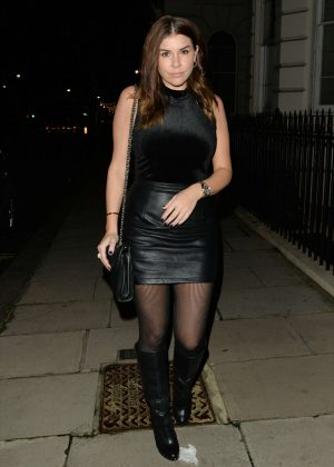 Imogen Thomas - Leaving Novikov Restaurant in Mayfair