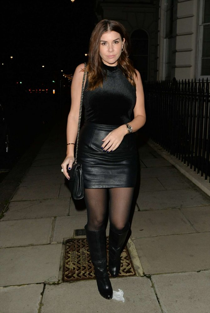 Imogen Thomas – Leaving Novikov Restaurant in Mayfair