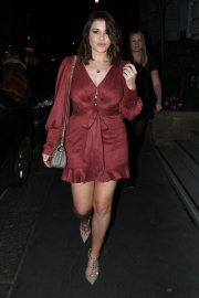 Imogen Thomas - Leaving the Art's club in Mayfair