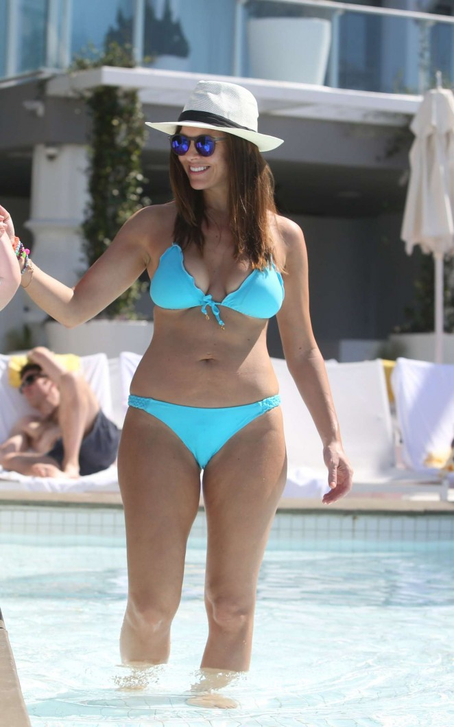 Imogen Thomas in Blue Bikini -35