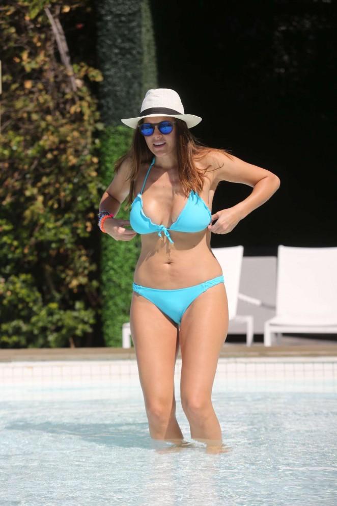 Imogen Thomas in Blue Bikini -39