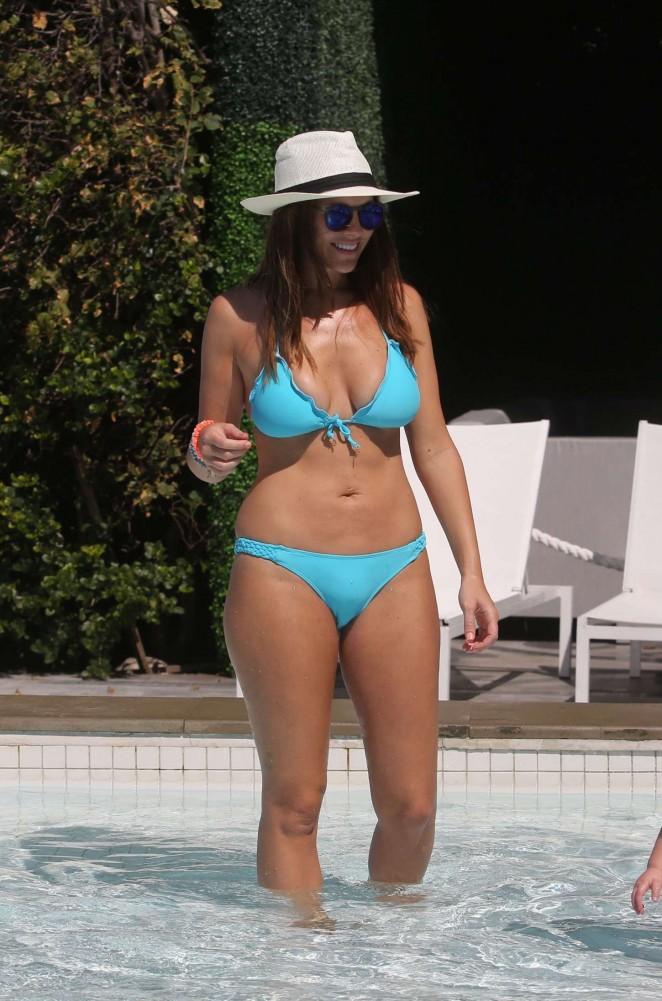 Imogen Thomas in Blue Bikini -48