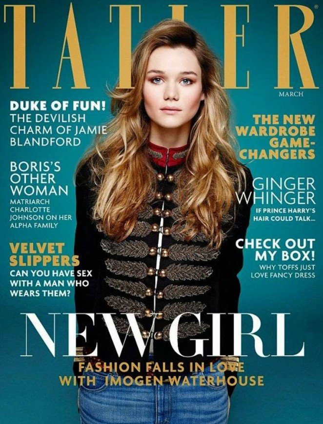 Imogen Waterhouse - Tatler UK Cover (March 2015)